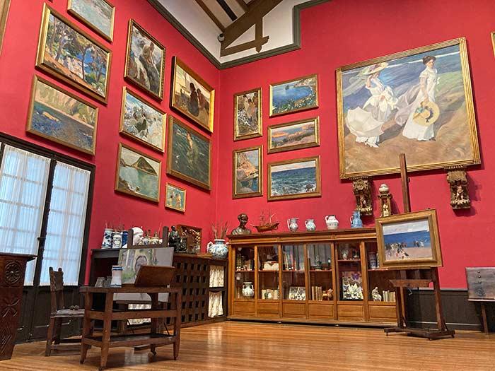 Taller de Sorolla en su casa-museo de Madrid