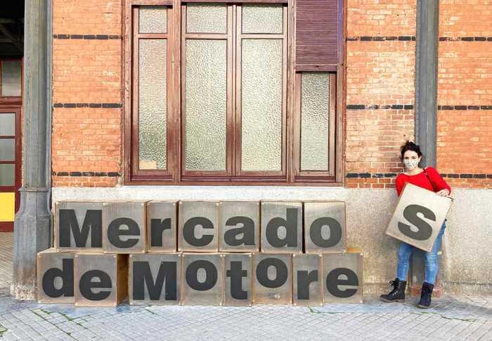 Entrada al Mercado de Motores, en el Museo del Ferrocarril de Madrid