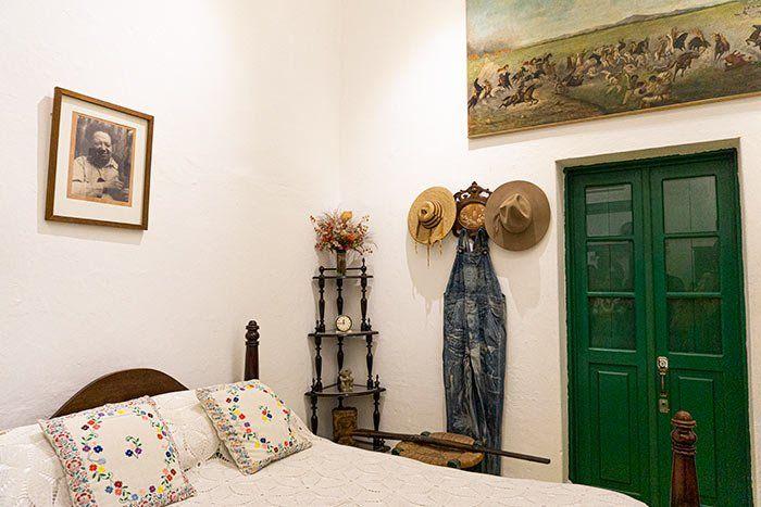 Otra de las habitaciones en la casa de Frida Kahlo, CDMX