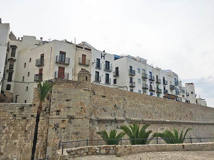 Muralla en Peñíscola