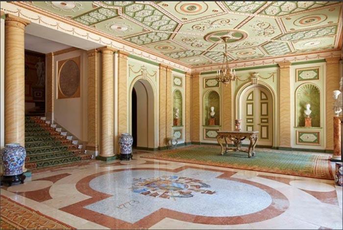 Zagúan principal del Palacio de Liria, donde comienza la visita