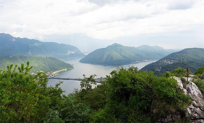 Vistas desde el Monte Salvatore, cantón del Tesino, Suiza
