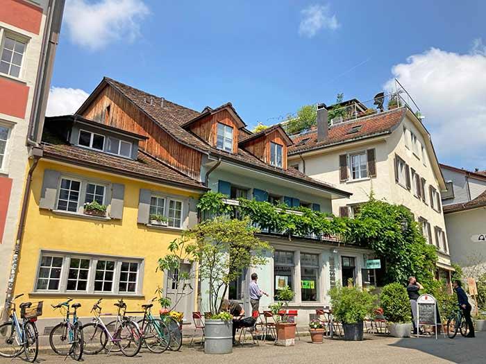 Calles con arquitectura tradicional en Winterthur