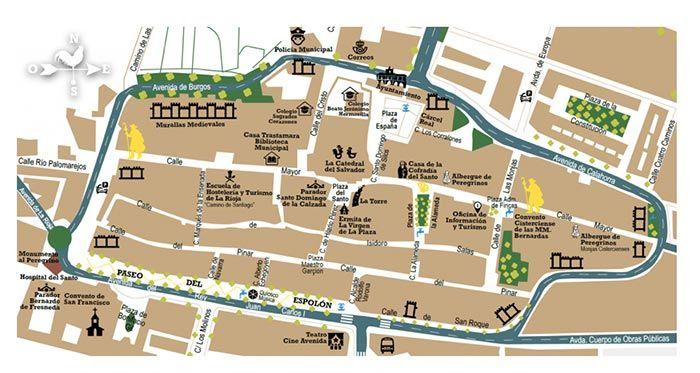 Mapa turístico de Santo Domingo de la Calzada