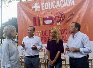 Giustiniani presentó sus propuestas en educación