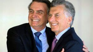 Bolsonaro apoyó a Macri y cuestionó a Fernández