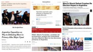 """Para los medios del mundo, la derrota de Macri en las PASO es """"irreversible"""""""