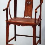 Round-backed armchair from the Ming Dynasty, well-proportioned in scale and lofty in shape.