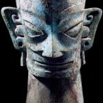 Bronze mask from the Shang Dynasty, unearthed from Sanxindui in Guanghan City of Sichuan Province in 1986