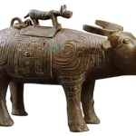 A bronze ox zun (a kind of ancient wine vessel) of the Western Zhou Dynasty unearthed in Qishan County, Shaanxi Province.