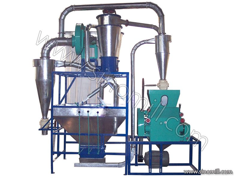 5TPD flour milling machine for maize and wheat