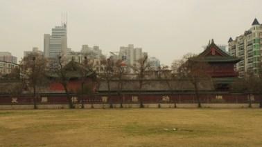 Verwaister Sportplatz in Zhengzhou