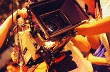 film camera in action