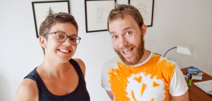 Lea und Jojo beim Interview 1