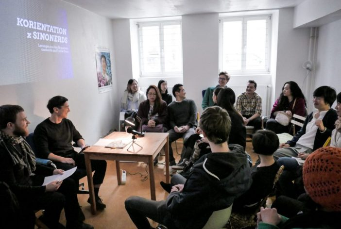 Diskussion während der Lesung