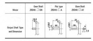DC Gearmotors 40 watt 90 mm