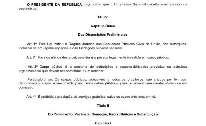 thumbnail of Lei 8112 Regime Juridico Serv Publicos