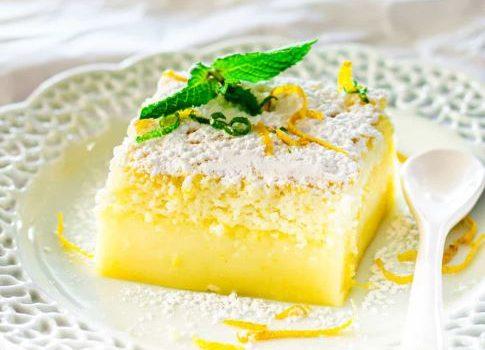Μαγικό κέικ λεμονιού