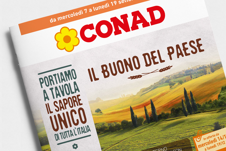 CONAD Buono del paese brochure Sintesi/hub agenzia marketing Trieste