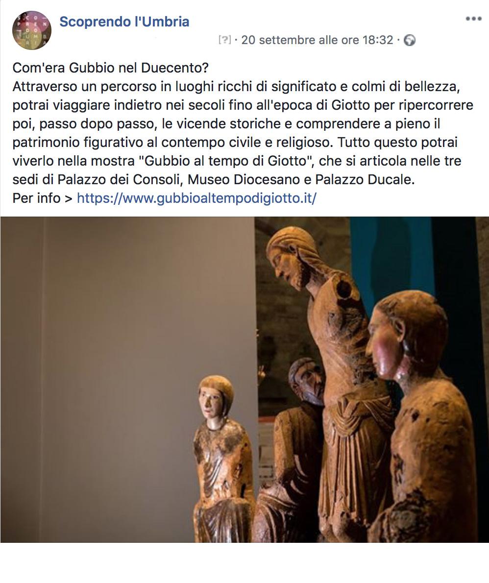 Pagina Facebook Scoprendo l'Umbria