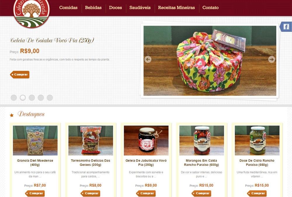 Cafeteria da Fazenda, loja virtual em Magento
