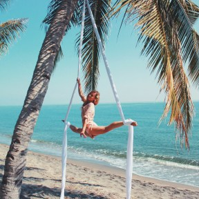 Beach Aerial Silks Siobhan Johnstone