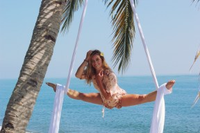 Palm Tree Beach Aerial Silks Siobhan Johnstone