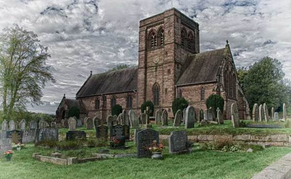 St. John's, Norley. A typical 19th century English parish church