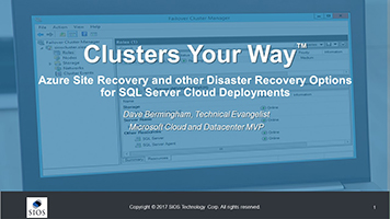 Azure Site Recovery & Disaster Recovery Options for SQL Server Cloud