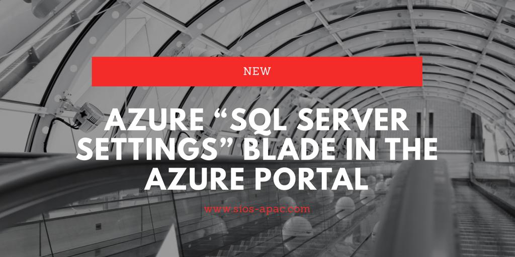 새 Azure SQL Server 설정 블레이드 Azure 포털