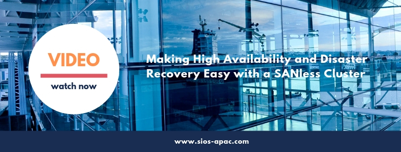 SIOS video High Availabilty and Disaster Recovery with SANless cluster