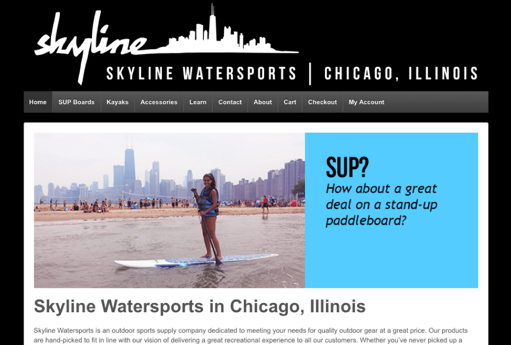 Skyline Watersports E-commerce Website