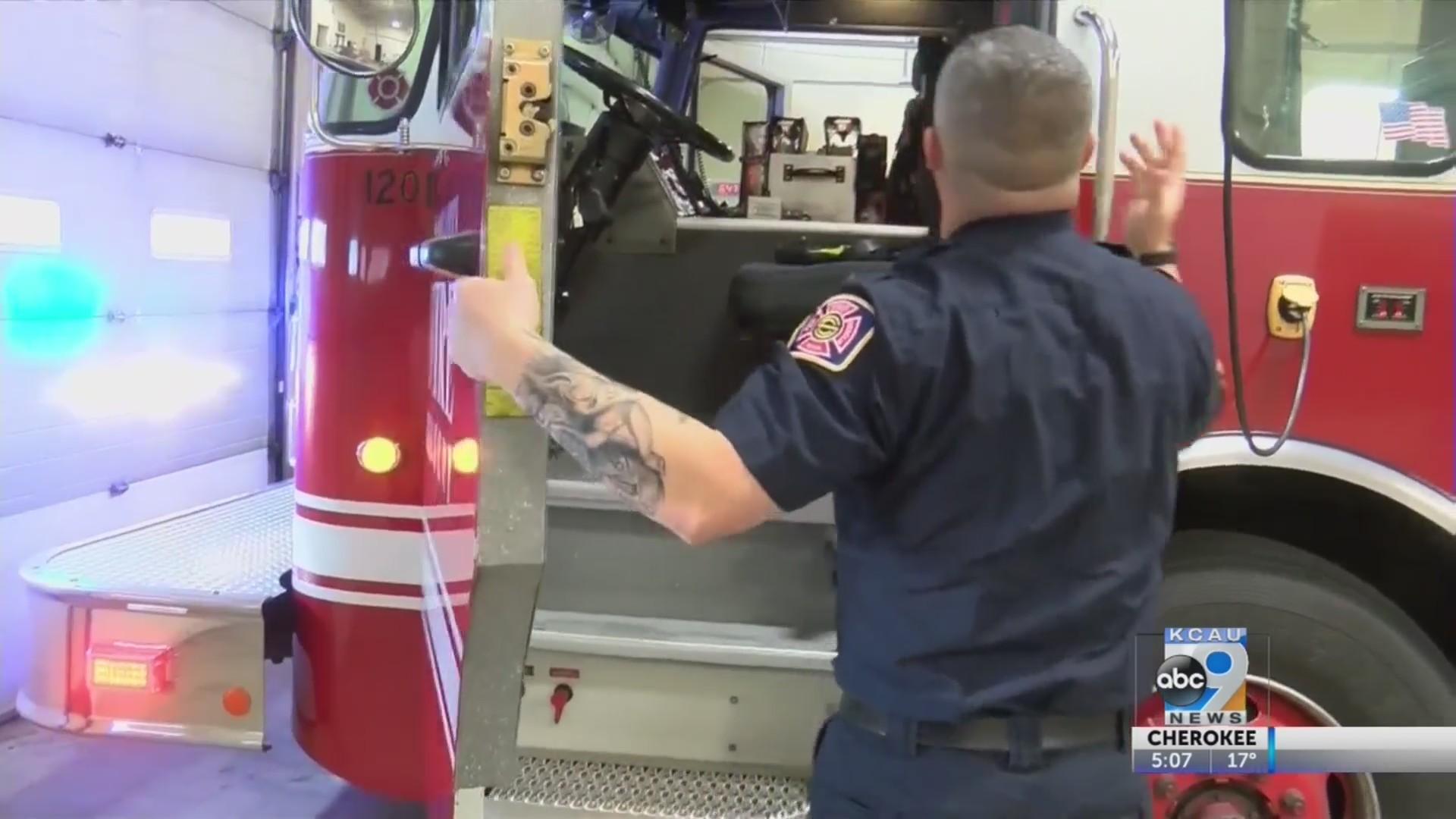Firefighters Donate 'Movember' Money