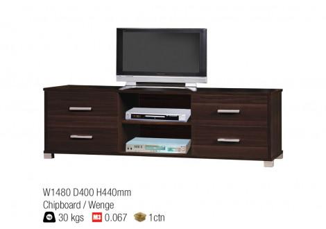meuble tv hugo decor wenge