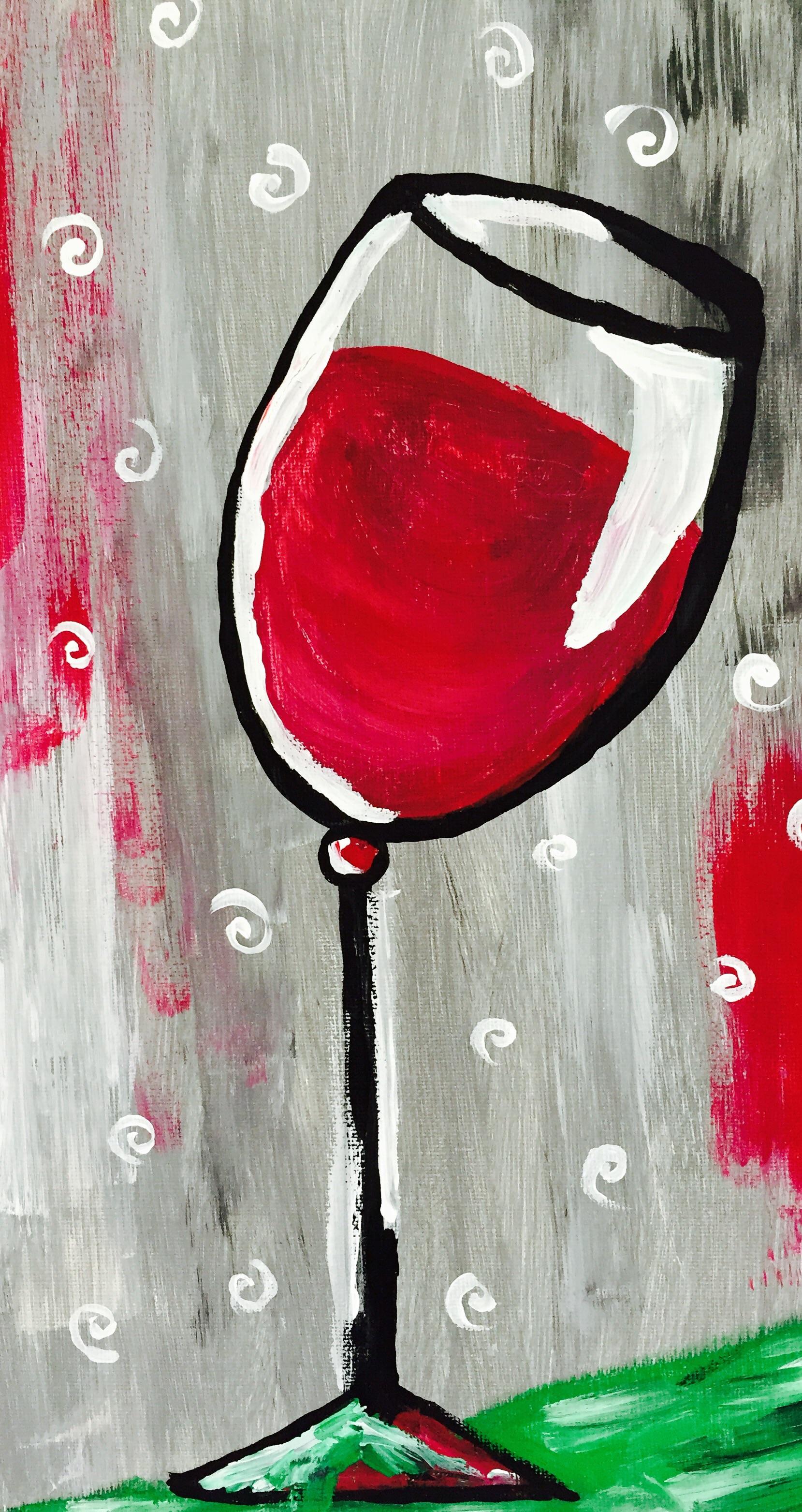 Tipsy Wineglass
