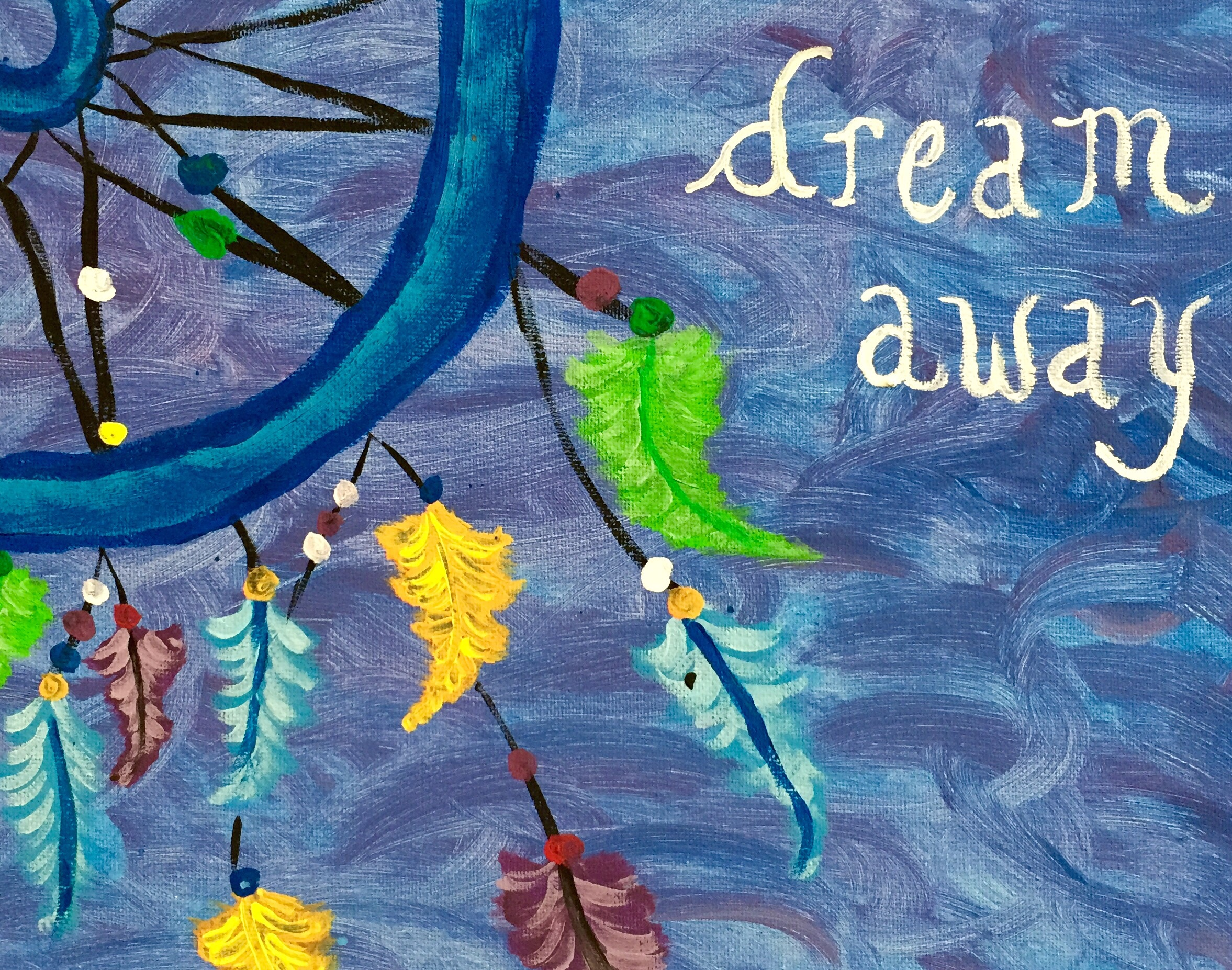 Dream catcher- Sip's 2nd painting ever!