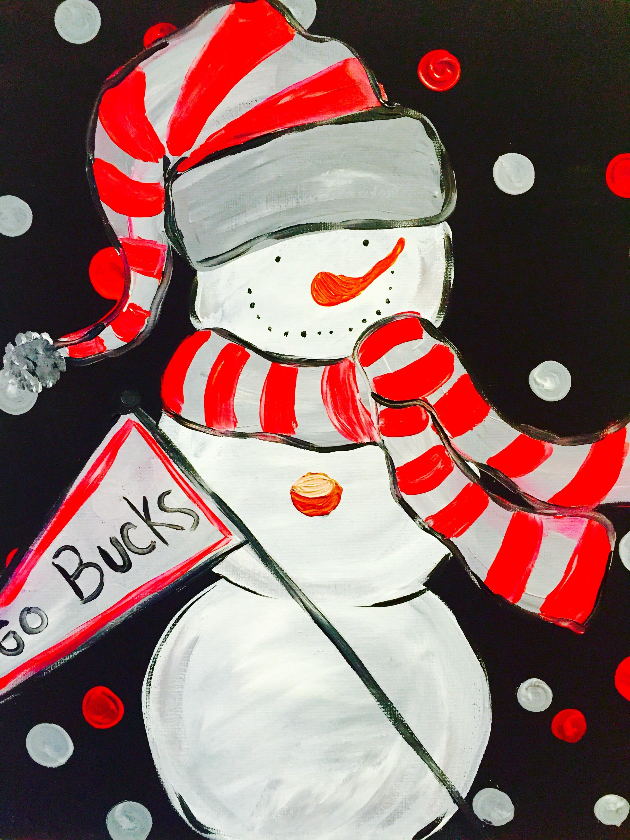 Go Bucks! Snowman