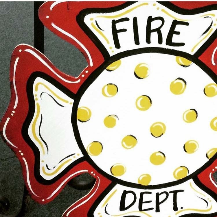 Fire Dept. wood plaque