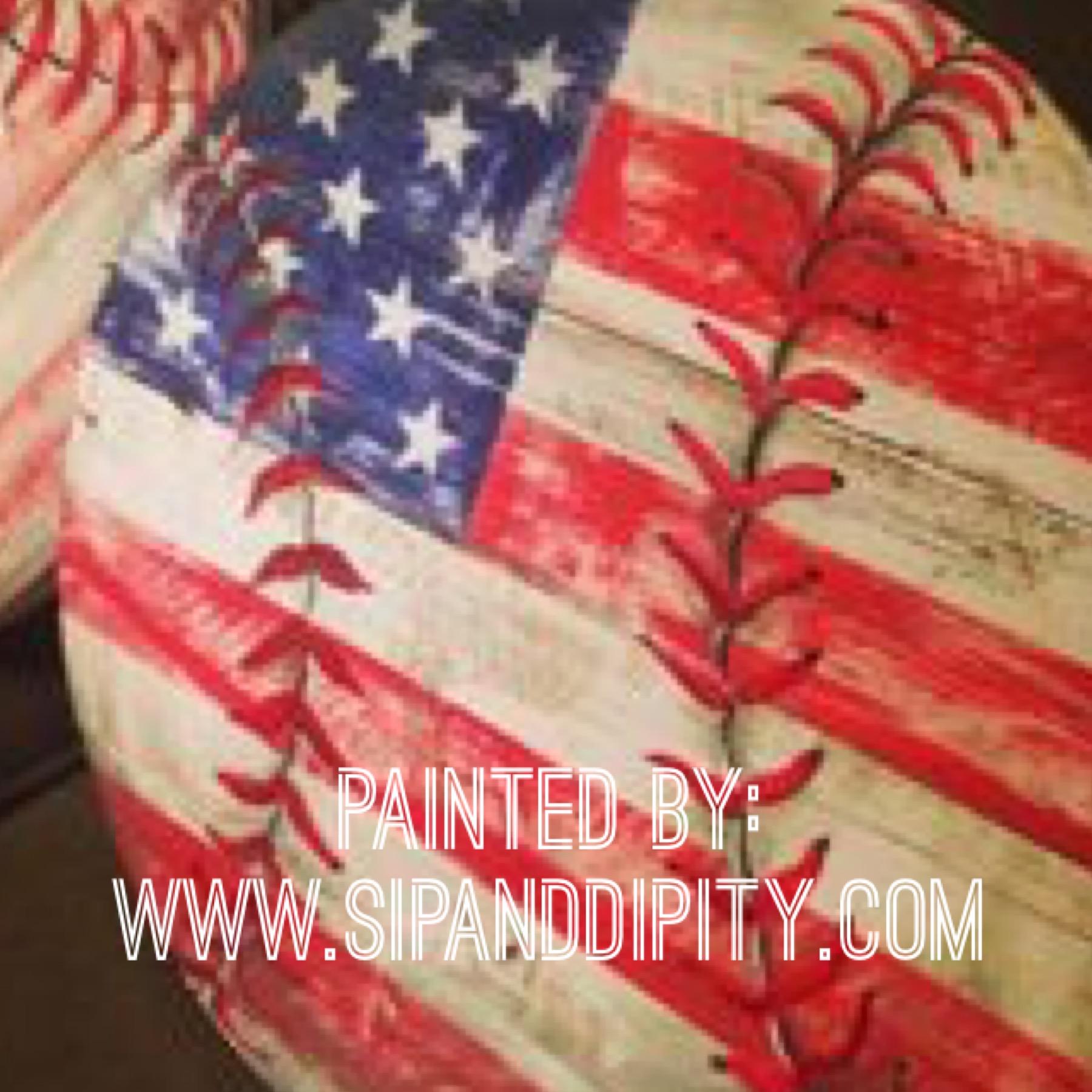 Americana Wood Baseball Plaques