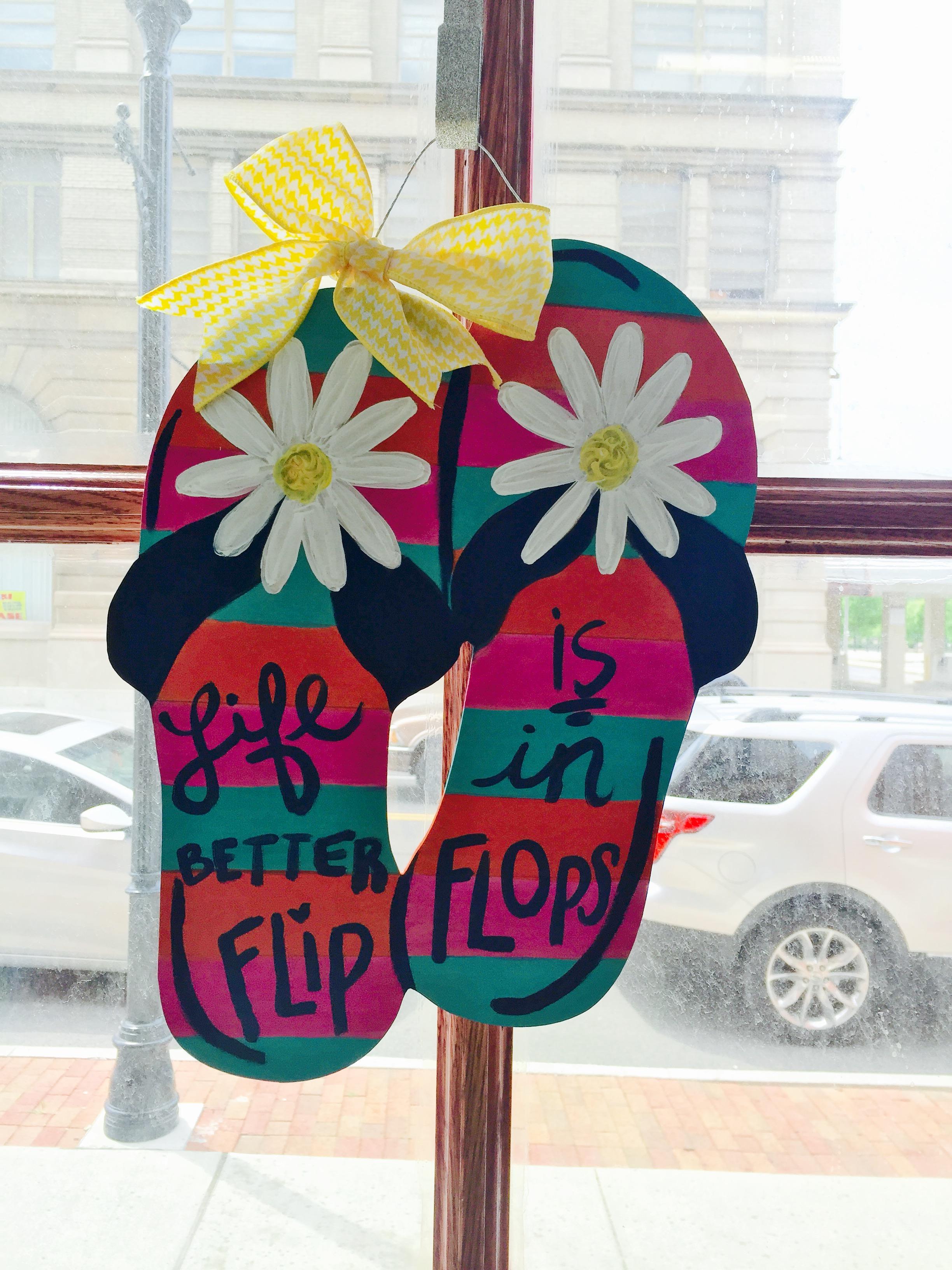 Wood Flip Flop Door Hanger