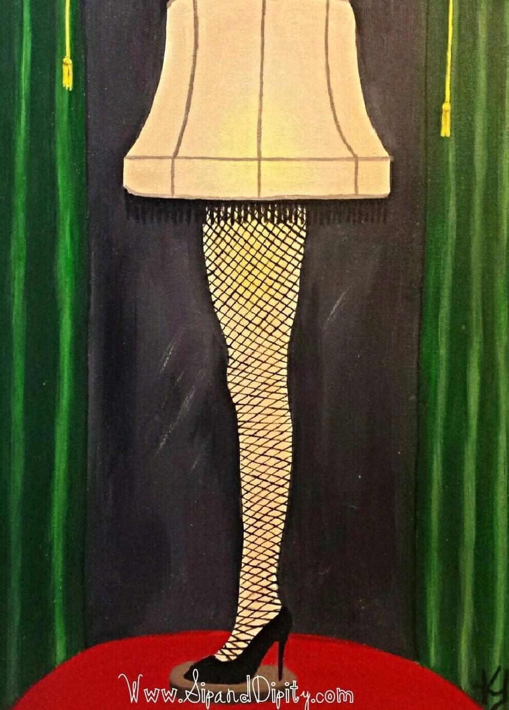 Christmas Story Leg Lamp Party