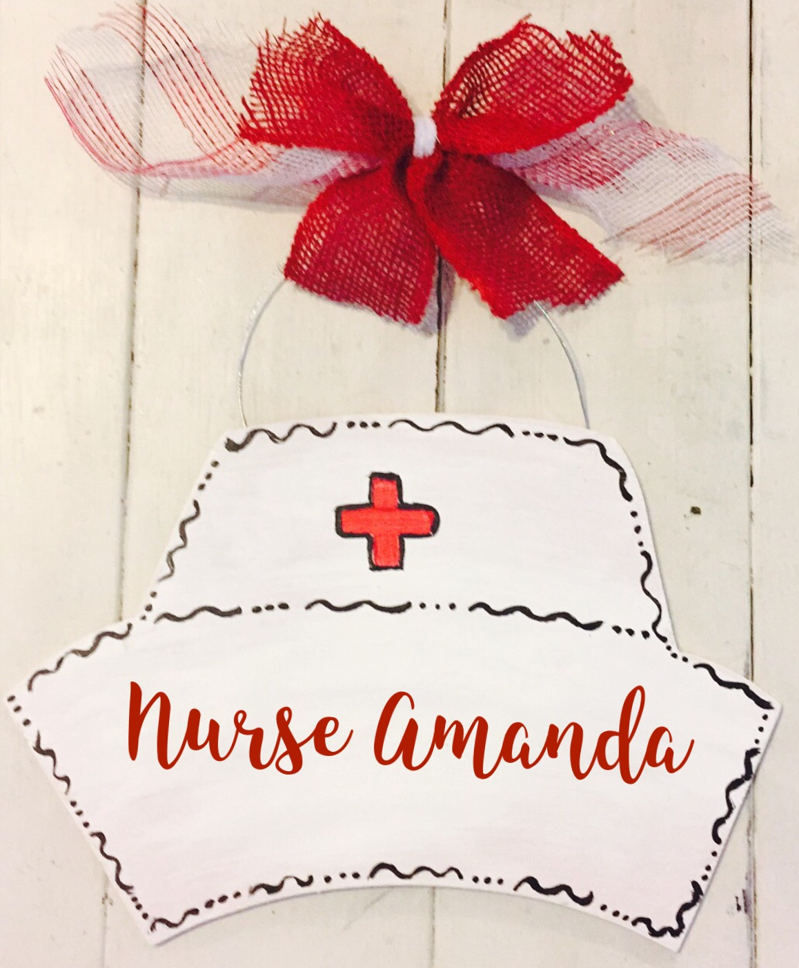 Nurse Wood Door Hanger