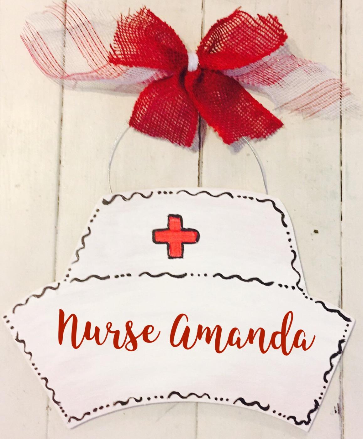 Nurse Wood Door Hanger