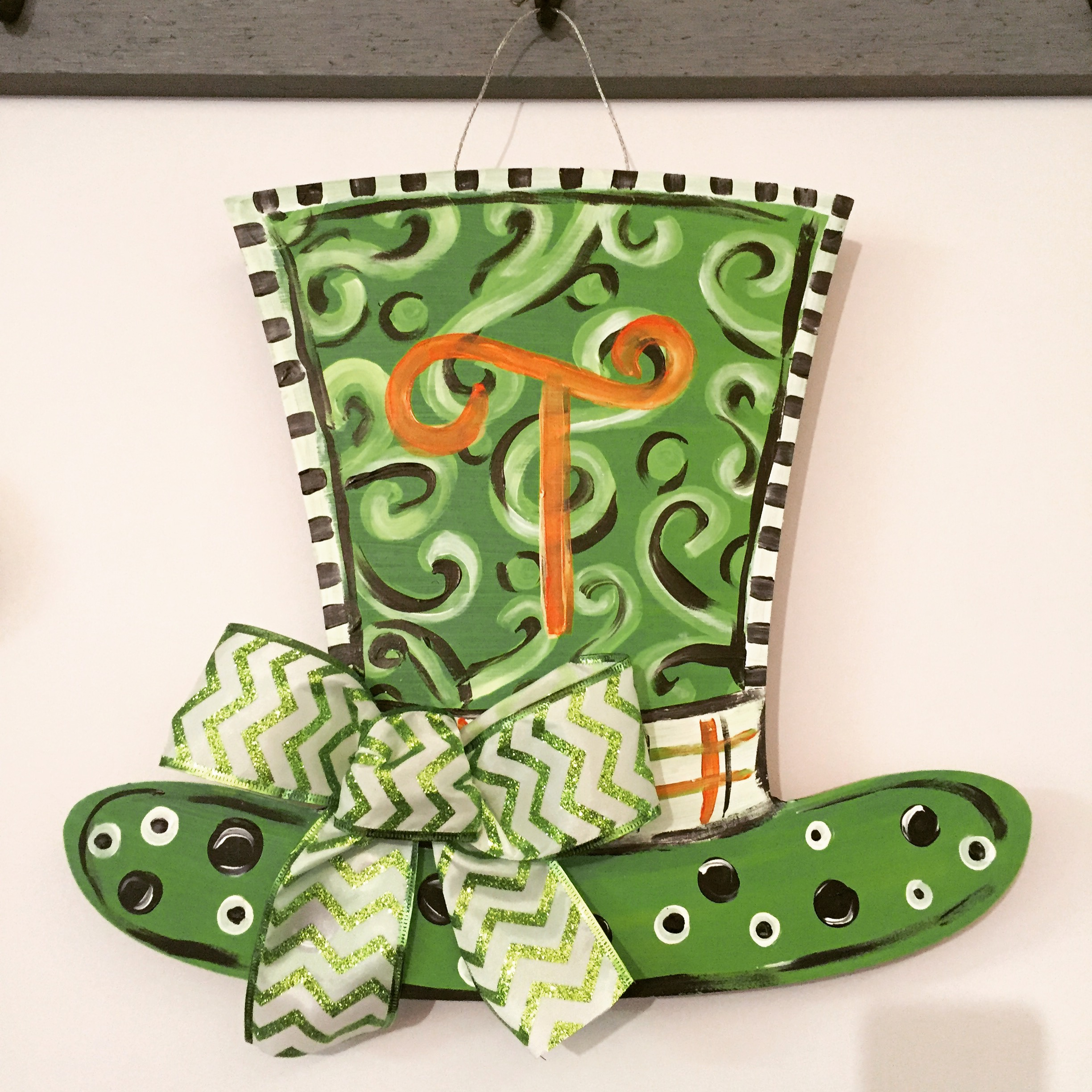 Leprechaun Hat Wood Door Hanger