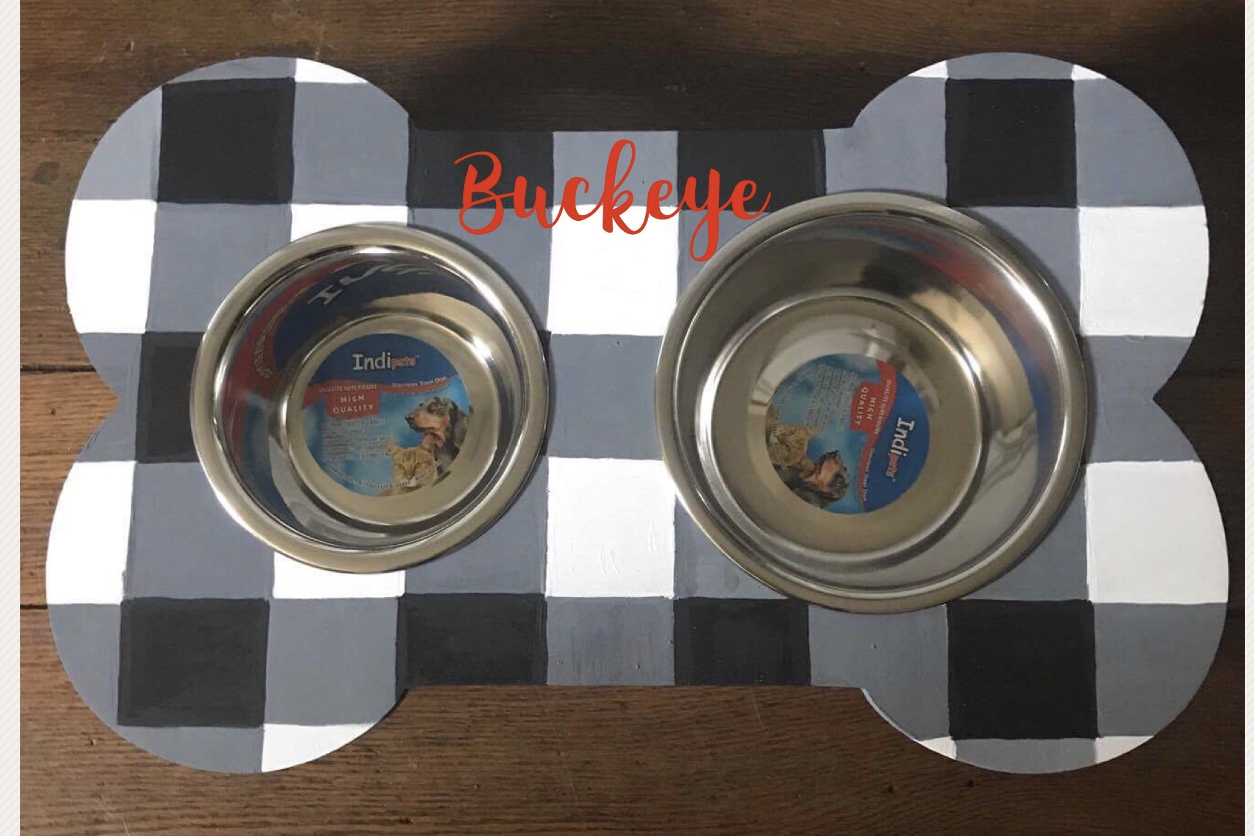 Personalized Dog Dish Station