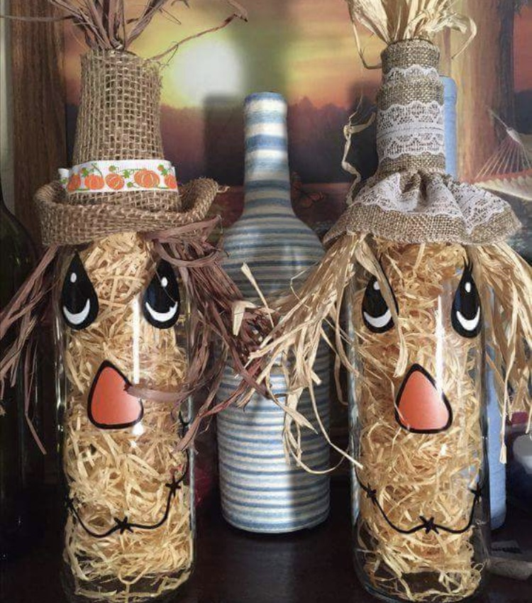 Scarecrow Winebottle Party