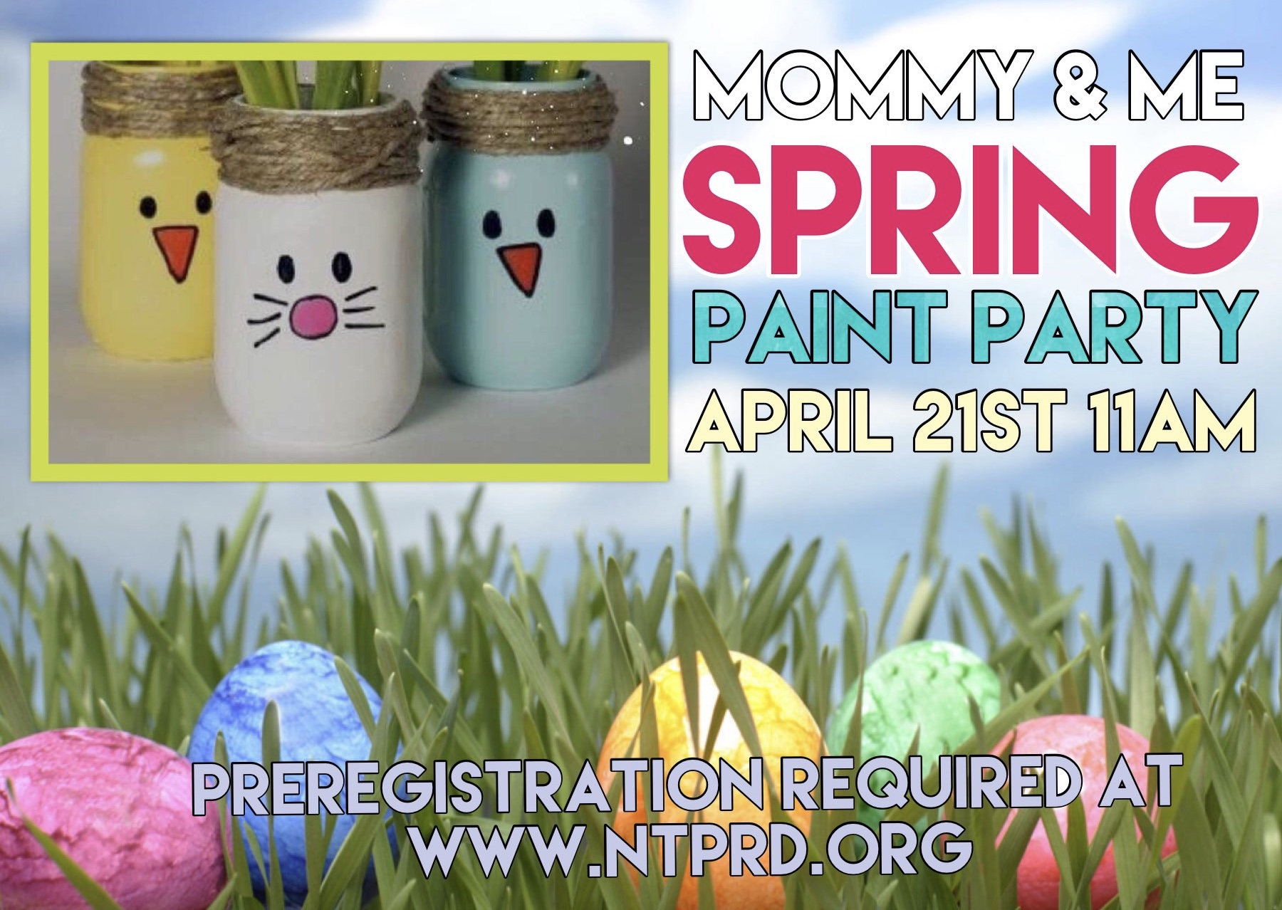 Mommy & Me Spring Paint Party