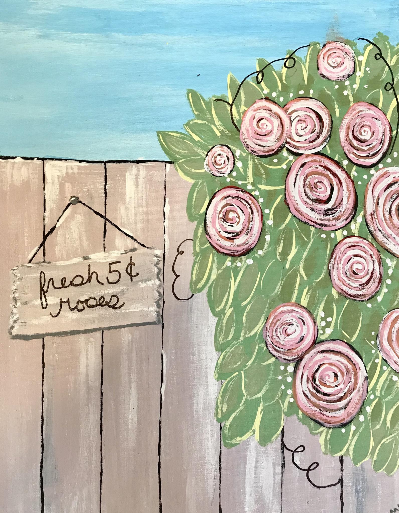 Rose Bush Paint Party