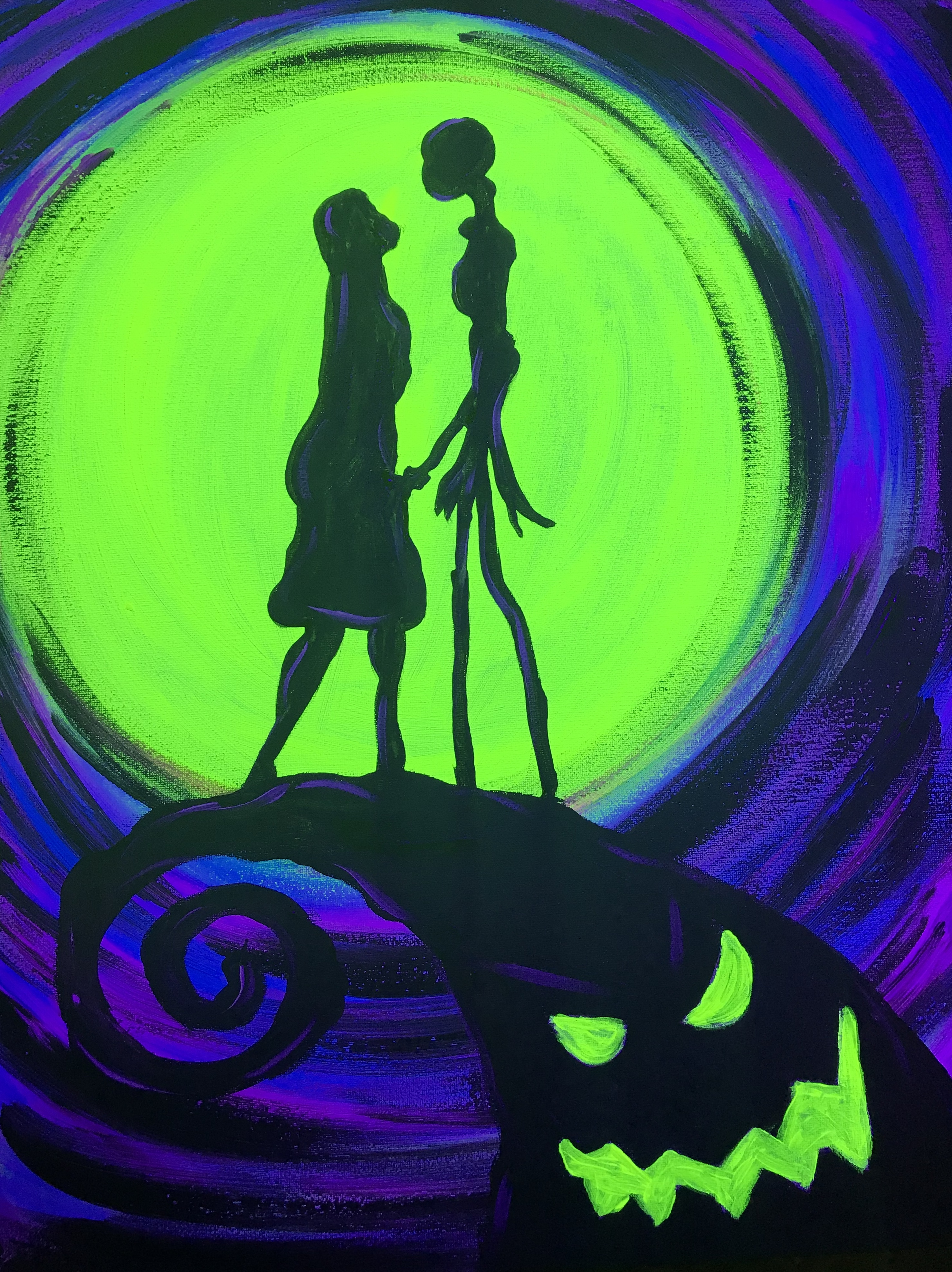 Paint in the Dark Party- Jack & Sally