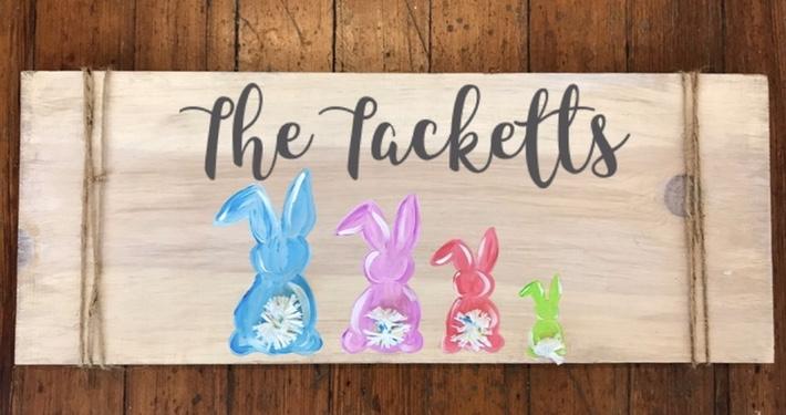 Easter Family Sign